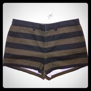 Madewell striped twill shorts, NWT